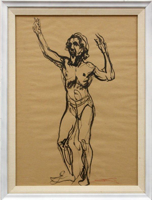 4410: watercolor, Emil Jean Kosa Jr., Nude