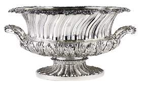 An Important George III sterling punch bowl, Robert