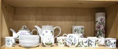 One shelf of Portmeirion Botanic Garden