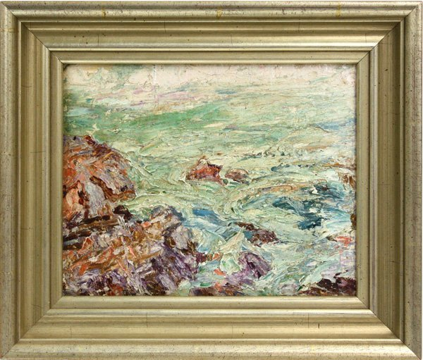 2006: Painting, Abtract Seascape, Anna Roberta Brown Ba
