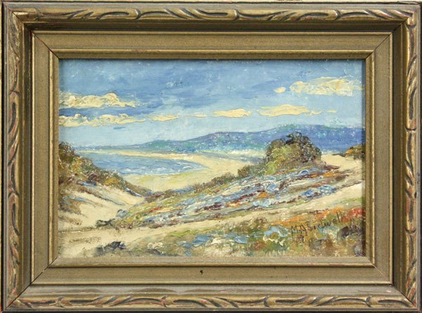 2007: Painting, Coastal Landscape, Mahlon Andrew Sidwel
