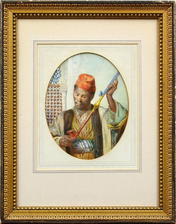 2009: watercolor, Alfred Hassam, Moor with Pipe
