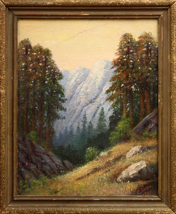 2011: Painting, Landscape, Christian Petersen Skov