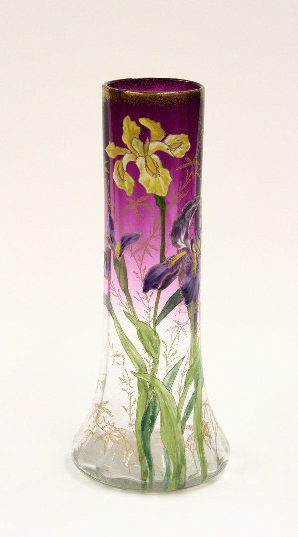 2022: Hand enameled Bohemian vase