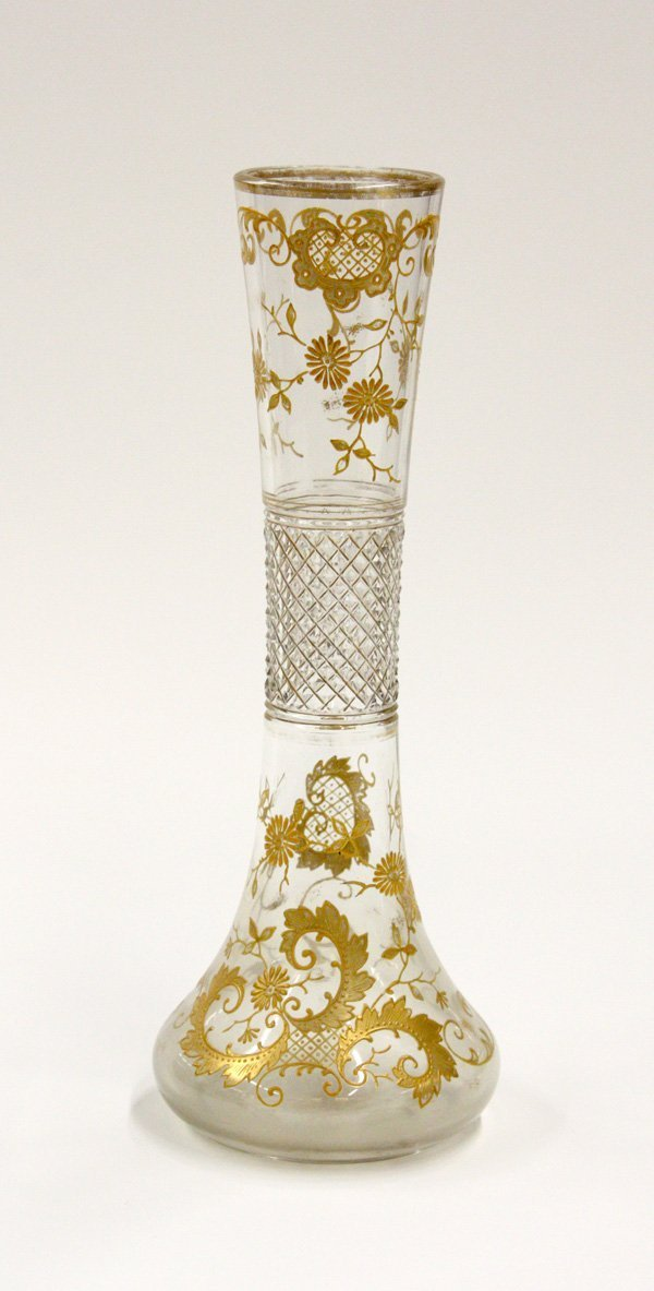 2023: Hand enameled Bohemian vase
