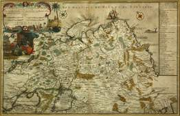 2329 Map Nicolas de Fer Les Etats du Czar des Russes