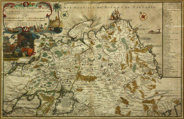 2329: Map, Nicolas de Fer, Les Etats du Czar des Russes