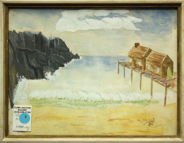3: Watercolor, Seascape, contemporary