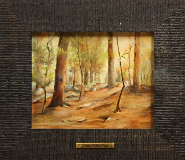 6000: Painting, Charles Fries, Wooded Landscape