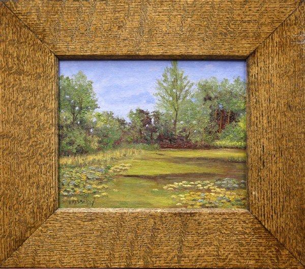 6002: Painting, JD Rasberry, Quiet Pond