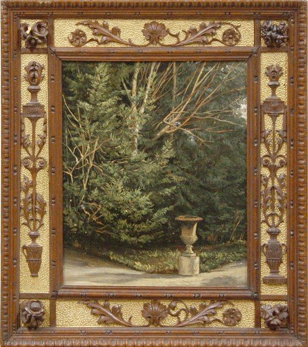 6007: Painting, European Landscape, Black Forest frame