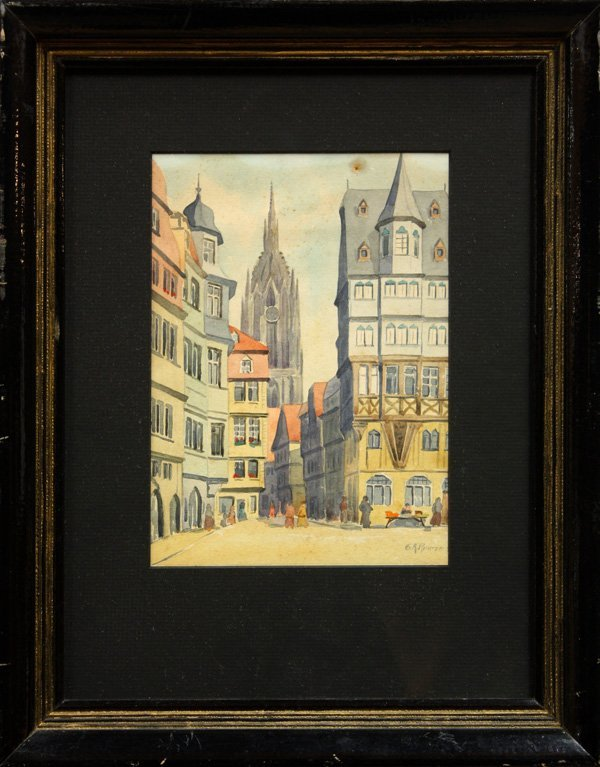 6008: Watercolor, Gustav Richter, Europe, Luther House,