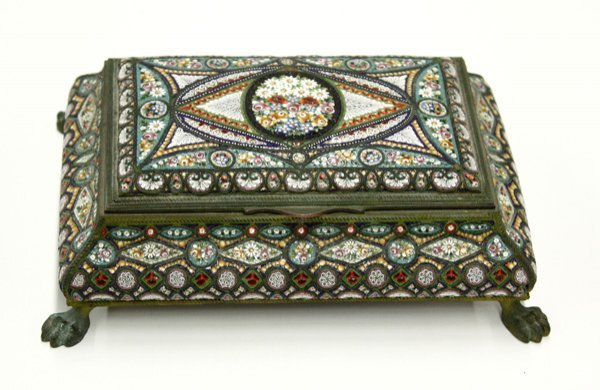 6011: Dresser box, Italian micro mosaic