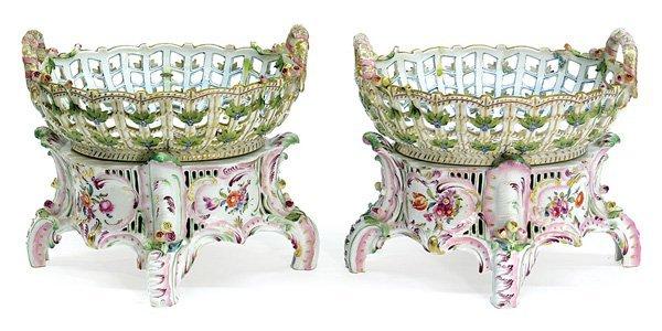 6013: Centerpieces, porcelain, Herend