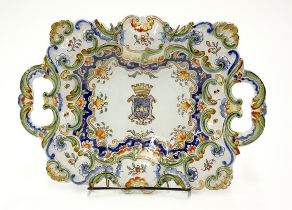 6014: Platter, French faience 19th century