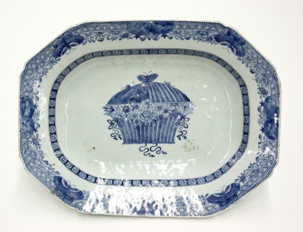 6017: Chinese Underglazed Blue Export Platter
