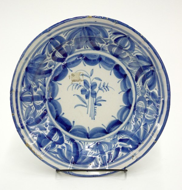 6018: Faience Bowl, French, 18th Century