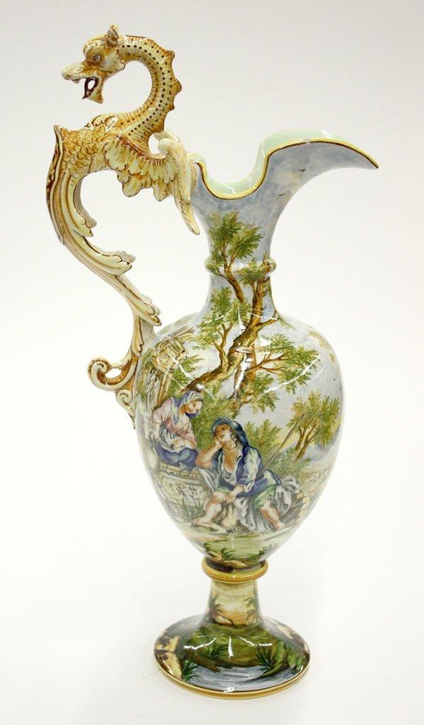 6021: Italian ceramic ewer