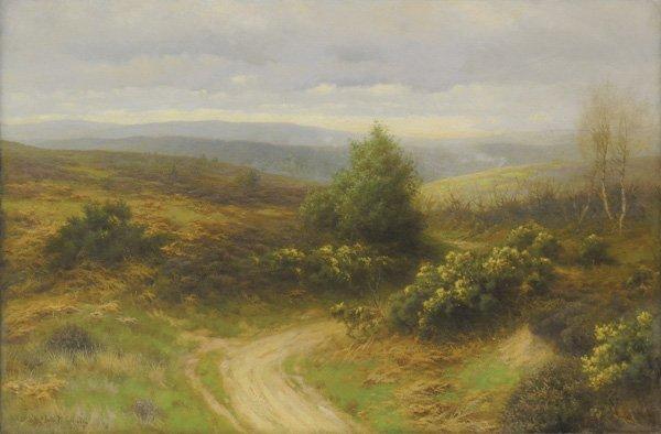 6219: Painting, John Gamble, Santa Barbara Wildflowers