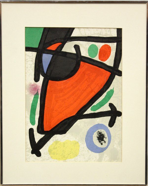 6323: Litho, after Miro, from Derriere le miroir