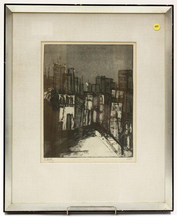4003: Etching, La Calle, F. Lorta