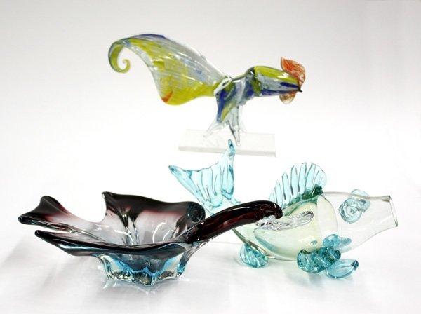 4021: Murano art glasss animals
