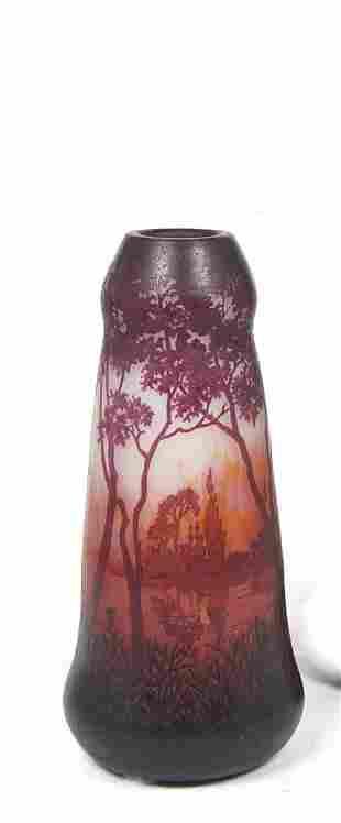A large Daum Nancy cameo glass vase