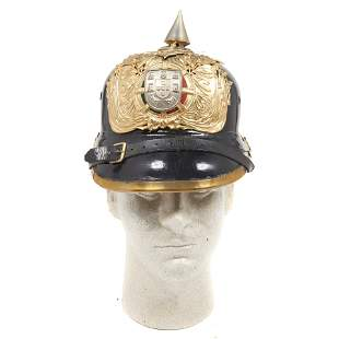 A Portuguese palace guard spiked helmet