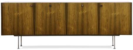 A Danish Modern rosewood credenza, attributed to Poul