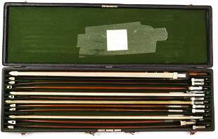 (lot of 12) German and French full size violin bows