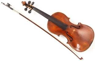 A full size German violin labelled J