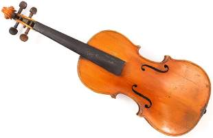 Old French full size  violin branded Mathieu