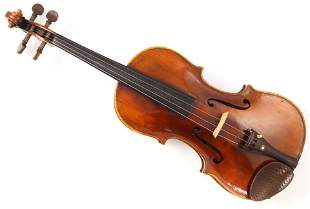 A German full size violin labelled Klotz with grafted