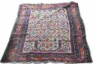 "An antique Kuba prayer rug, 3'6"" x 4'10"""