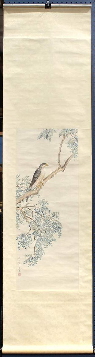 In the style of Ma Quan (Chinese, Qing Dynasty), Hawk,