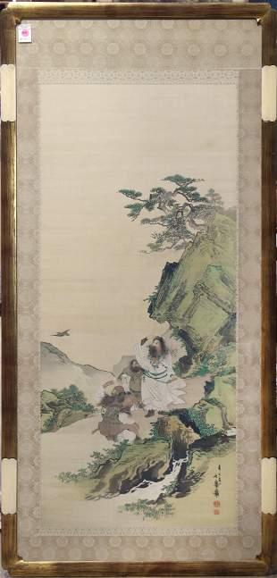 Painting of Jimmu Tenno, Attributed to Hagio Kyuko