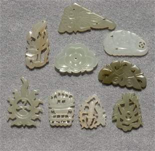 (lot of 9) Chinese small jade decorations