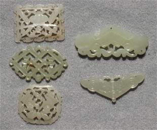 (lot of 5) Various Chinese small jade decorations