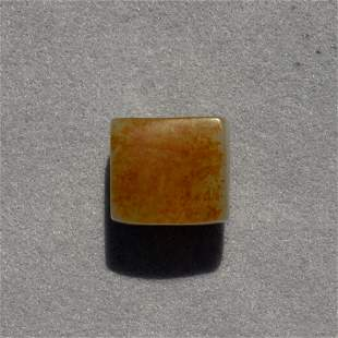 Chinese russet celadon jade archer's ring