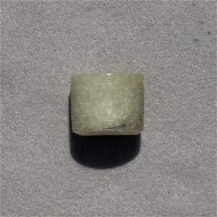 Chinese celadon jade archer's ring