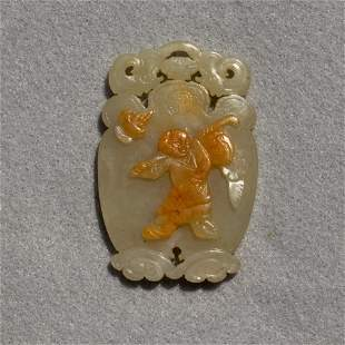 Chinese russet celadon jade pendant