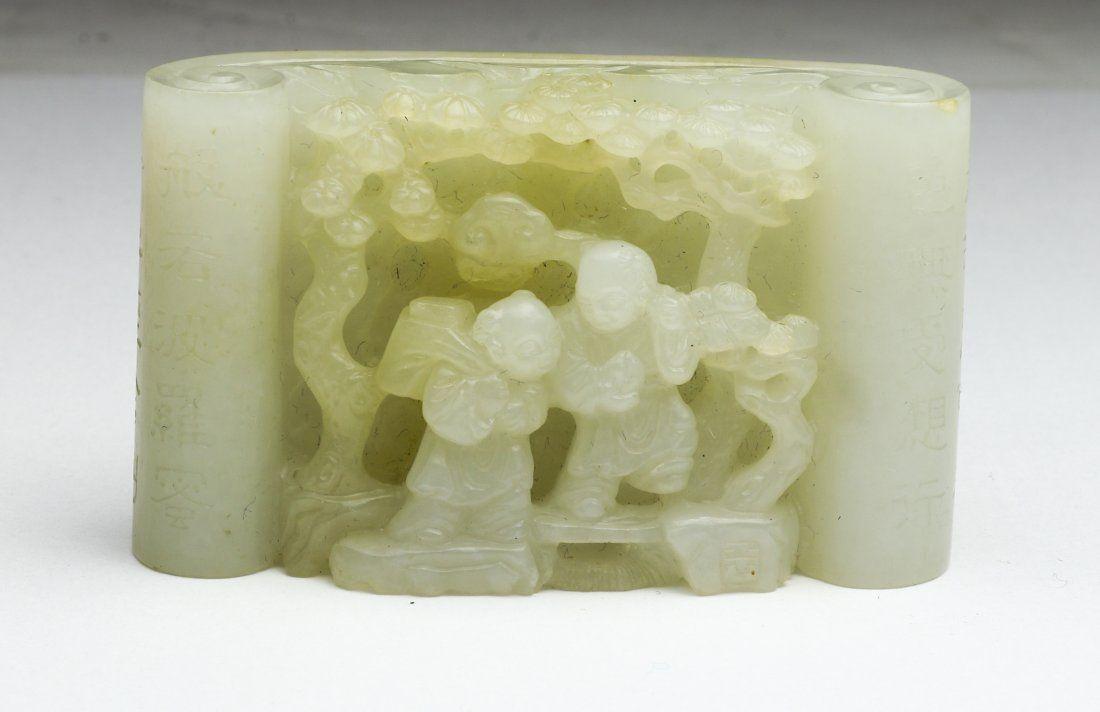 Chinese white jade paperweight