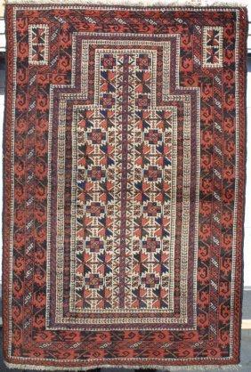 111: Baluch Tree of Life Prayer Rug Carpet