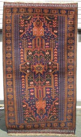 118: Taimani Baluch Medallion Rug Carpet