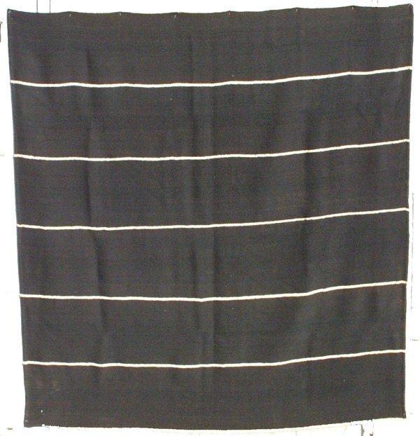 121: Bijar Black and White Wool Kilim Cover