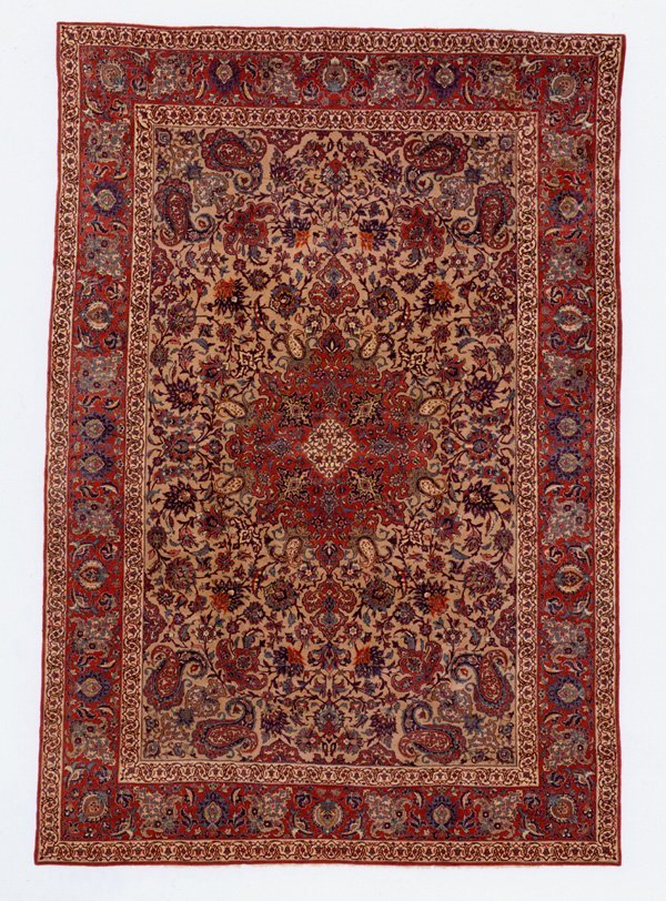 163: Fine Esfahan Medallion Rug Carpet