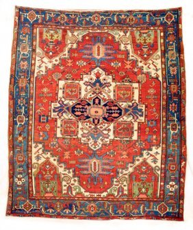 213: Serapi Rug Carpet, Azerbaijan