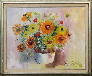 Painting, Still Life with Bouquet of Flowers