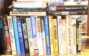One shelf of mainly hardcover books relating to