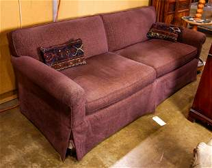 A contemporary two seat sofa